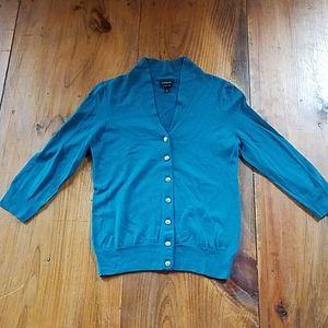 Talbots wool Cardigan with rhinestone buttons